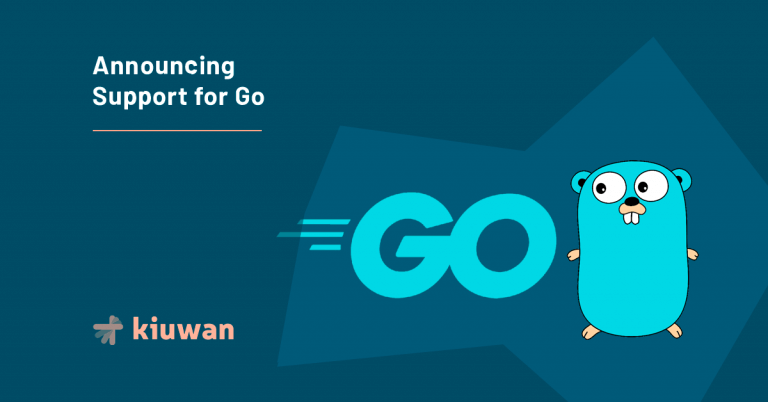 banner promoting Go as new supported language