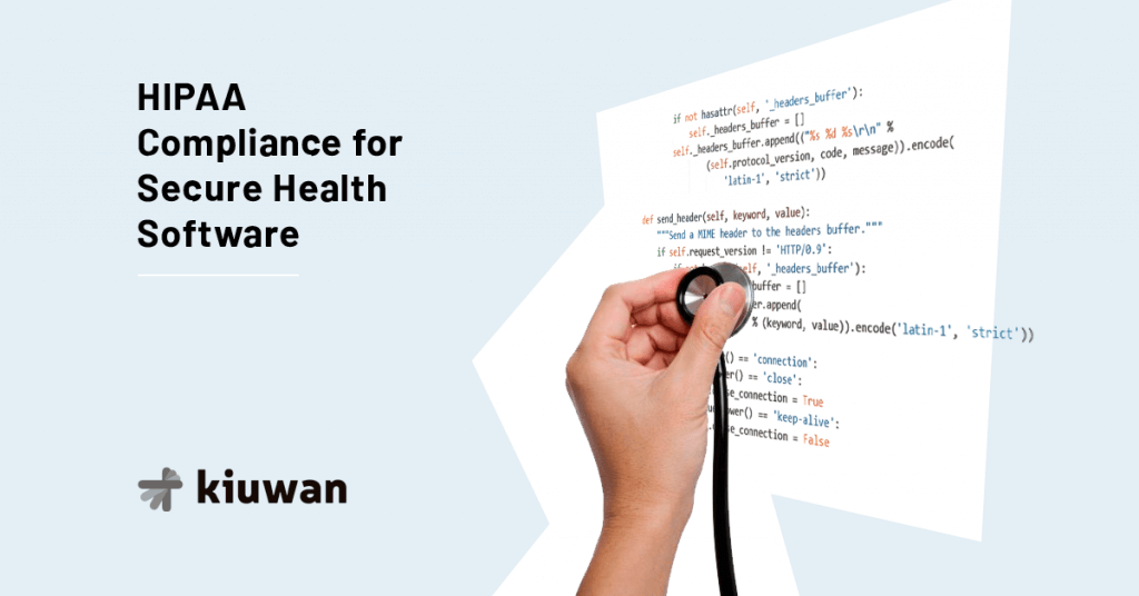 Hand with stetoscopes checks for hipaa compliance in the code